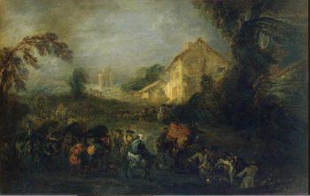 Hardships of War | Watteau Antoine | oil painting