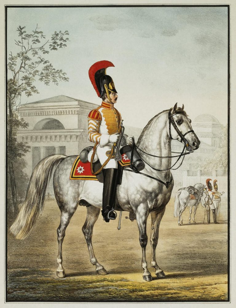 Trumpet-Player of the Cavalry Regiment   Zauerweid Alexander   oil painting