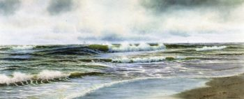 Surf at Northampton Long Island   George Howell Gay   oil painting