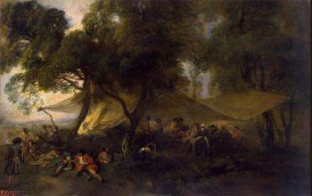 Idylls of War | Watteau Antoine | oil painting