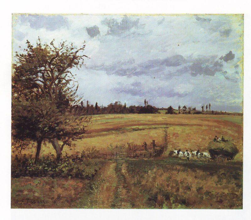 Landscape in pontoise | Camille Pissarro | oil painting