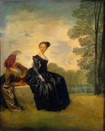 La Boudeuse (The Capricious Girl) | Watteau Antoine | oil painting