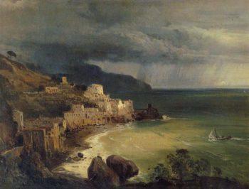 Temporale nel golfo di Amalfi | Giacinto Gigante | oil painting