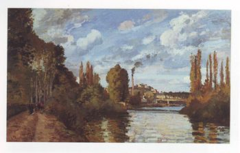 Riverbanks in pontoise | Camille Pissarro | oil painting
