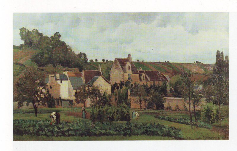 The hermitage at pontoise | Camille Pissarro | oil painting