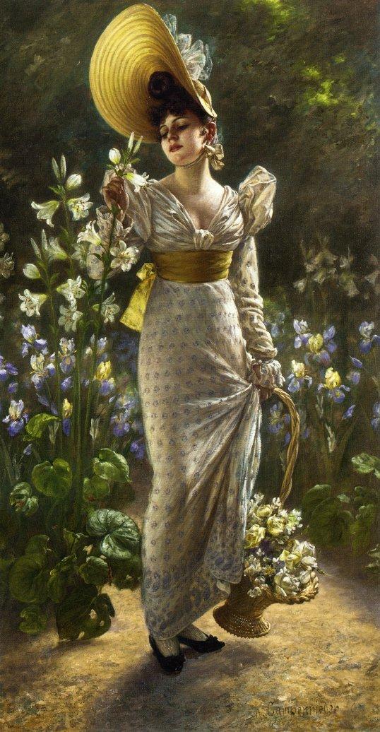 Princess Elvina of Bavaria | Karl Gampenrieder | oil painting