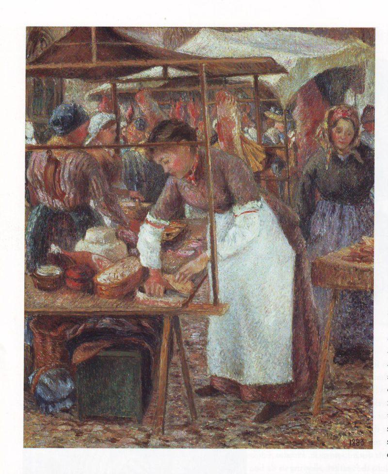 The pork butcher | Camille Pissarro | oil painting