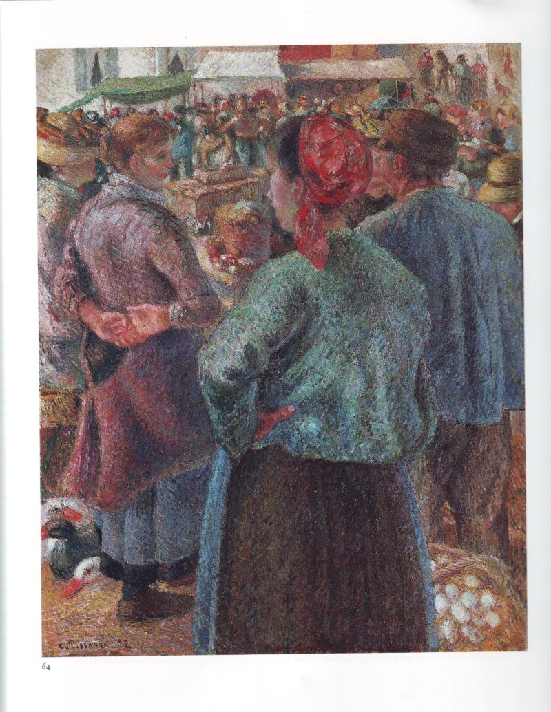 The poultry market at pontoise | Camille Pissarro | oil painting