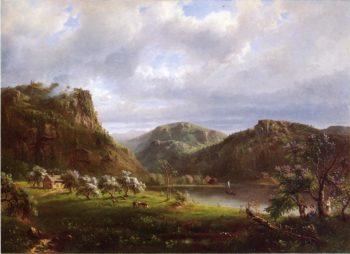 American Landscape | Marie Francois Regis Gignoux | oil painting