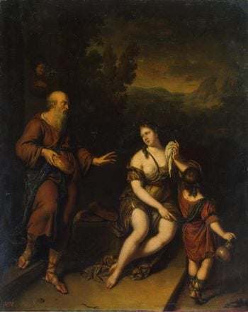 Expulsion of Hagar | Mieris Willem van | oil painting