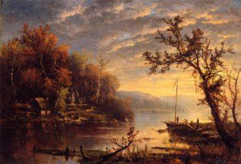 Autumn on the Hudson | Marie Francois Regis Gignoux | oil painting