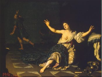 Joseph and Potiphars Wife | Mieris Willem van | oil painting