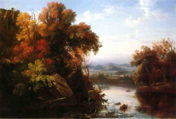 Indian Summer | Marie Francois Regis Gignoux | oil painting