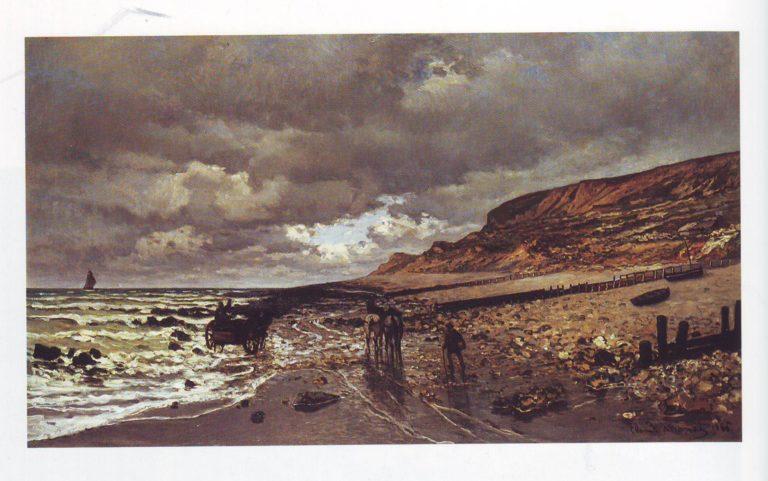 Pointe de la heve at low tide | Claude Monet | oil painting