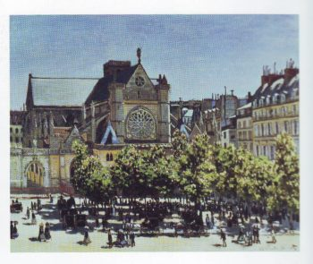 Saint germain l'Auxerrois paris | Claude Monet | oil painting