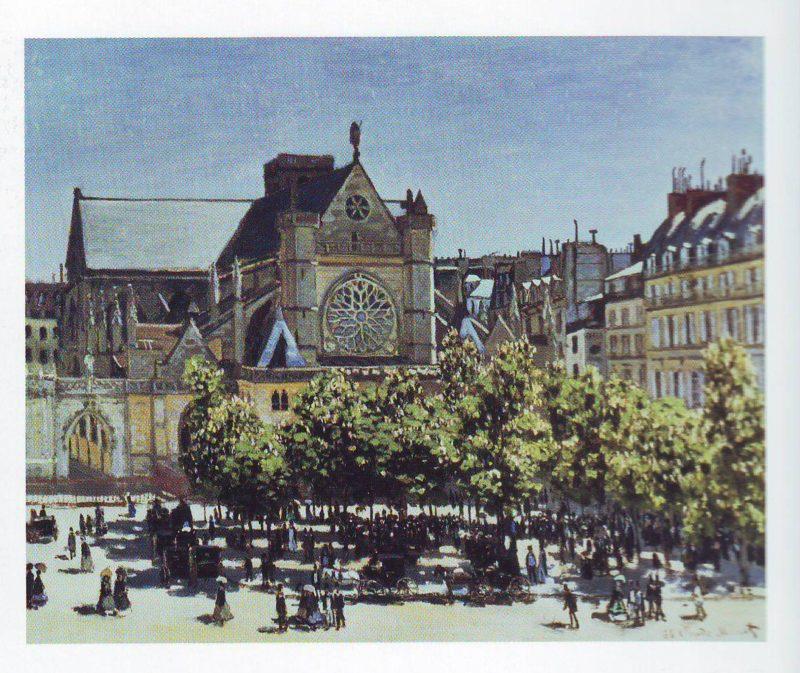 Saint germain l'Auxerrois paris | Claude Monet | oil painting