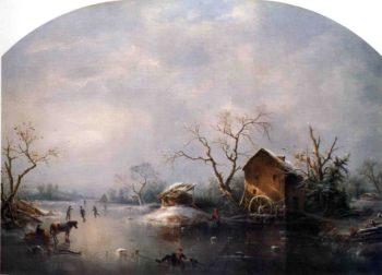 Winter Scene | Marie Francois Regis Gignoux | oil painting