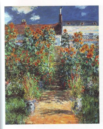 the artist's garden at vetheuil1 | Claude Monet | oil painting