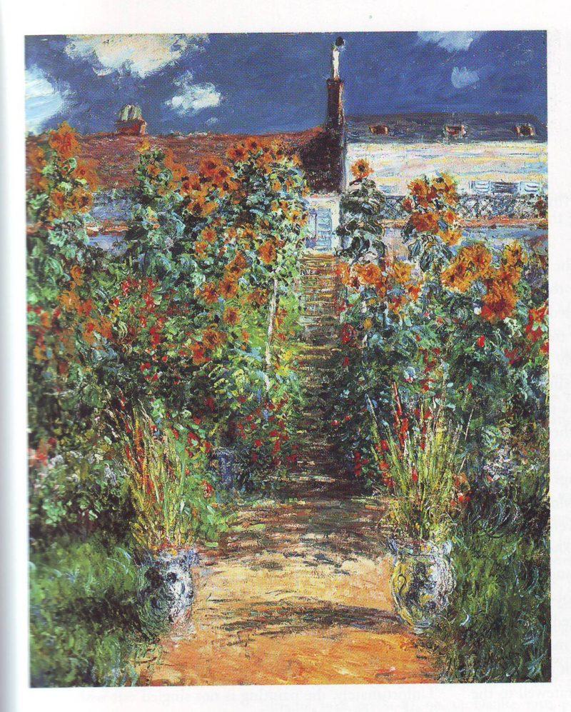 the artist's garden at vetheuil1 | Claude Monet | oil painting