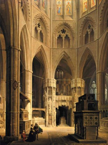 The Choir of Westminster Abbey | Max Emanuel Ainmiller | oil painting