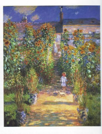 The artist's garden at vetheuil2 | Claude Monet | oil painting