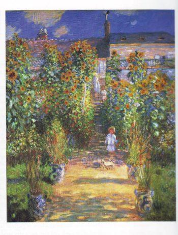 The artist's garden at vetheuil2   Claude Monet   oil painting