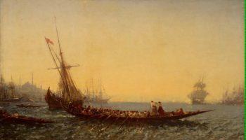 Harbour at Constantinople   Ziem Felix Francois Georges Philibert   oil painting