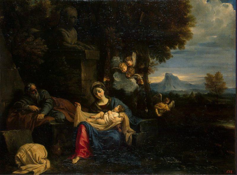 Rest on the Flight into Egypt | Mola Pier Francesco | oil painting