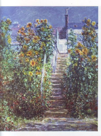 The artist's garden at vetheuil3 | Claude Monet | oil painting