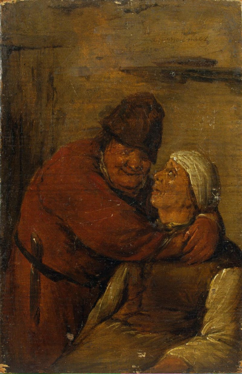 An Old Man and an Old Woman (A Couple Embracing Each Other) | Molenaer Jan Miense | oil painting