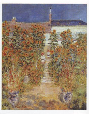 The artist's garden at vetheuil4 | Claude Monet | oil painting