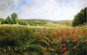 A Field of Flowers | Pierre Arthur Gaillard | oil painting
