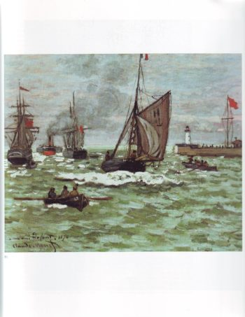 The entrance to the port of le havre | Claude Monet | oil painting