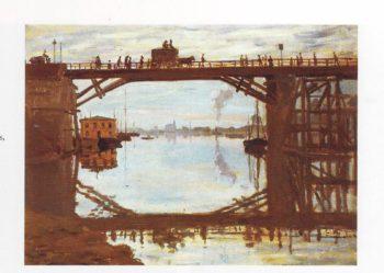 The wooden bridge at argenteuil   Claude Monet   oil painting