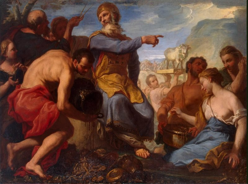 Adoration of the Golden Calf | Molinari Antonio | oil painting