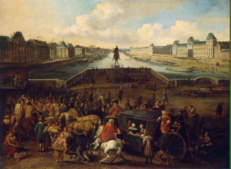 View of the Pont-Neuf in Paris | Mommers Hendrick | oil painting