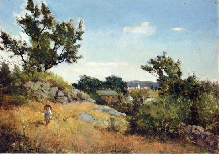 A View of the Village | Willard Leroy Metcalf | oil painting