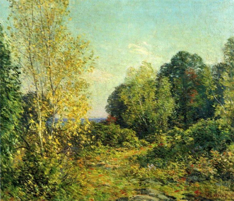 Approaching Autumn 1918 | Willard Leroy Metcalf | oil painting