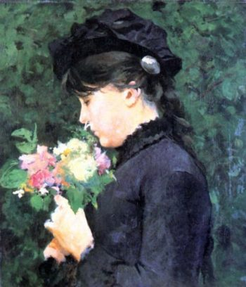 Portrait of Eleonora Tommasi | Silvestro Lega | oil painting