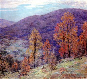 Autumn Glory | Willard Leroy Metcalf | oil painting