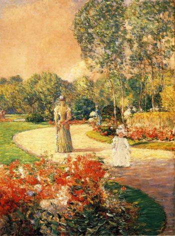 Parc Monceau, Paris Frederick Childe Hassam