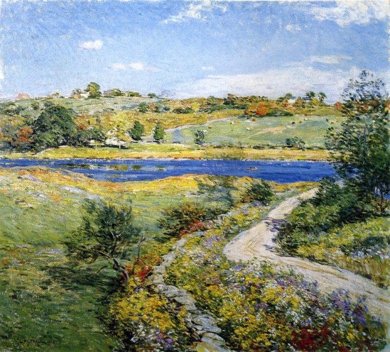 Autumn Roadside 1918   Willard Leroy Metcalf   oil painting