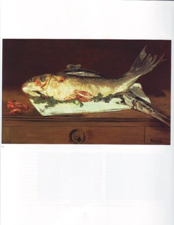 Still life with fish and shrimp | Edouard Manet | oil painting