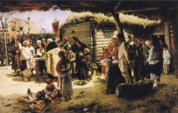 Easter Te Deum | Vladimir Yegorovich Makovsky | oil painting