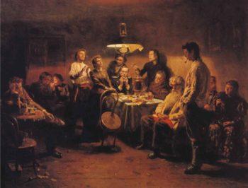 Evening Company | Vladimir Yegorovich Makovsky | oil painting