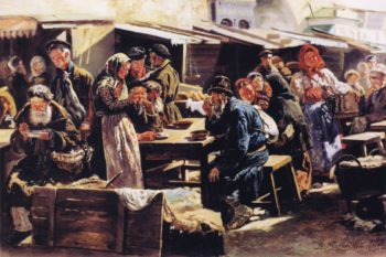 Farmers Market in Moscow | Vladimir Yegorovich Makovsky | oil painting