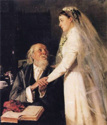 Goodbye Papa | Vladimir Yegorovich Makovsky | oil painting