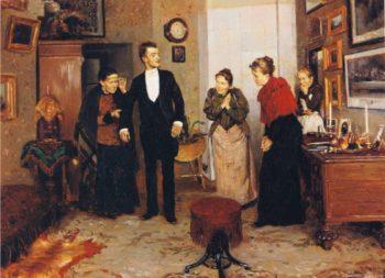 His First Suit | Vladimir Yegorovich Makovsky | oil painting