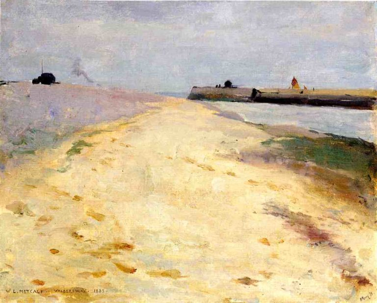 By the Shore Walberswick 1885 | Willard Leroy Metcalf | oil painting