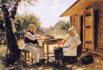 Making Jam | Vladimir Yegorovich Makovsky | oil painting